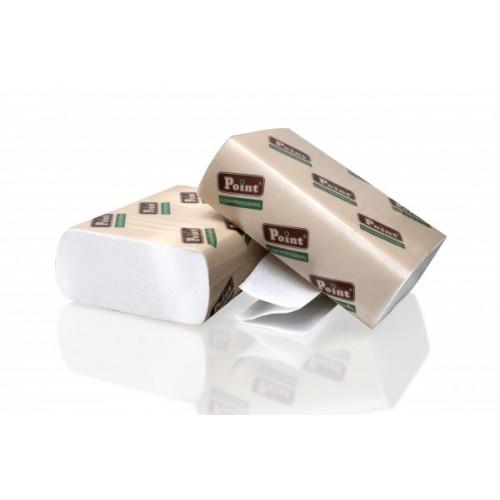 Бумажные полотенца листовые белые Z-укладка 2 слоя EcoPoint Standart ZS-200